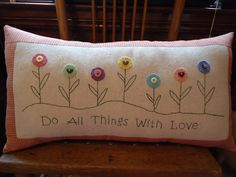 Stitchery Pillow pattern,includes woolfelt pieces and bee button. $8.00, via Etsy.