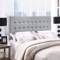 Awaken simple magnificence with the smooth lines of the Tinble headboard. Tinble is a softly padded piece, built on contemporary ideals, and upholstered with so