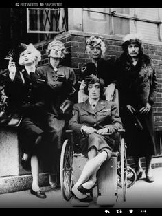 The Stones in drag