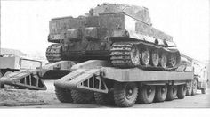 Tiger 1 being moved by an British Cranes 70 ton Trailer. Tiger 114 of the 101 from Normandy