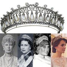 More views of the classic Cambridge Lover's Knot tiara originally designed for and worn by Queen Mary handed down to Queen Elizabeth, gifted to Princess Diana and most recently worn by The Duchess of Cambridge.