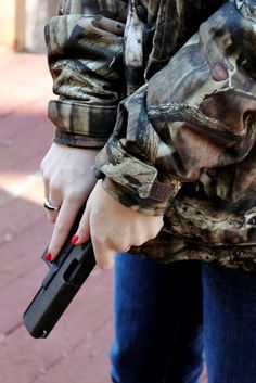 Country Girls reload ;)  with your cute painted nails and dainty hands, your still a deadly weapon.!
