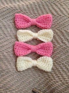 Handmade Crochet hair bows