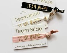 Check out our bridesmaids' gifts selection for the very best in unique or custom, handmade pieces from our shops. Hen Party Favours, Bachelorette Favors, Team Bride, Bridal Shower, Place Card Holders, Bridesmaid, Party Gifts, Unique Jewelry, Handmade Gifts