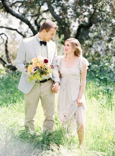 Bohemian Wedding Gown With Sheer Flutter Sleeves   photography by http://www.jenhuangphoto.com/   floral design by http://sarahwinward.com/  