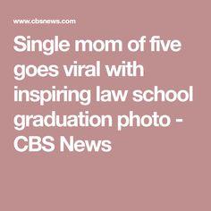 35b15de6fcd Single mom of five goes viral with inspiring law school graduation photo