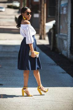 Truthful Wednesdays: Inconsistencies | midi skirt outfits, off the shoulder outifts, how, summer outfits