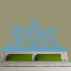 EyvalDecal Rounded Luxe Headboard Vinyl Wall Decal