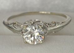 If I did not already have the perfect ring, this would be it. What a lovely vintage engagement ring.