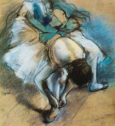 Edgar Degas   Dancer when Lacing the Ballet Shoes up, 1880, 43 x 47cm