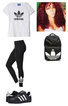 """Outfit for Tuesday"" by mayawhite04 on Polyvore featuring adidas and adidas Originals"