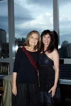 Gloria Steinem and Event Chair Lauren Embrey at the Ms. Foundation for Women's 23rd annual Gloria Awards