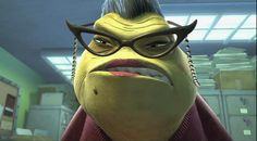 Bob Peterson, the movie's story supervisor, provided the temporary voice of Roz, the green secretary, during production. The nasal, sing-song voice proved to be such a success that they kept it in the final film.