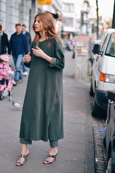 midi dress + cropped trousers--Maja Wyh