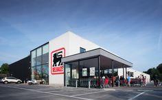 Delhaize Merchtem #Stadsbader #Building #retail #Delhaize Building Department, School Building, Retail, Sleeve, Retail Merchandising