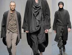 Visions of the Future // Damir Doma looks Grey Fashion, Minimal Fashion, Mens Fashion, Fashion Design, Fashion Details, Cyberpunk Mode, Cyberpunk Fashion, Gothic Corset, Gothic Lolita