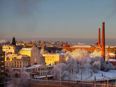 Tampere Finland at winter Finland, Paris Skyline, Europe, Places, Winter, Travel, Beautiful, Beauty, Winter Time