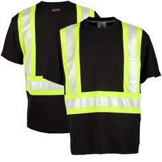 e210bf2d63f8fa ML Kishigo B200 Enhanced Visibility Contrast T-Shirt Safety Clothing, Work  Shirts, Contrast