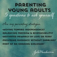 Parenting Young Adults Living at Home: Studio 5