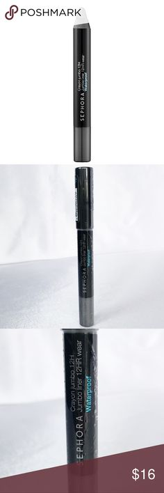 🆕Sephora Jumbo Liner - Gray Glitter🆕 New and sealed Sephora 12-Hr Wear Jumbo Eyeliner in Gray Glitter 0.10oz.  An eye pencil that can be used as eyeliner or blended out as eye shadow.  This  jumbo pencil creates a range of effects, from bold lines and blended effects to thin, defined lines. Resistant to water, heat, and humidity, its creamy, high-pigment formulas apply smoothly. It is formulated with exclusive waxes and pigments to assure maximum intensity that stays put for 12-hours…