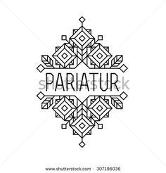 art deco monochrome luxury antique hipster minimal geometric vintage linear vector frame , border , label  for your logo, badge or crest for club, bar, cafe, restaurant, hotel, boutique - stock vector