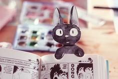 Un marque-pages Gigi le petit chat noir à télécharger | Poulette Magique