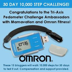 #OmronPedometer 30 Day 10,000 Step Challenge Ambassador Announcement