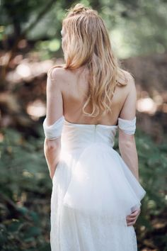 Back view of our tulle bow belt