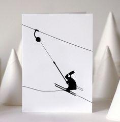 HAM Button Lift Rabbit Card