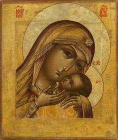 Religious Images, Religious Icons, Religious Art, Byzantine Art, Byzantine Icons, Russian Icons, Spirited Art, Madonna And Child, Art Icon