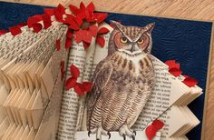 Great Horned Owl One of a Kind Altered Book by rashe on Etsy, $450.00