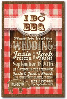 I DO BBQ Wedding Invitation Template by PaintTheDayDesigns on Etsy ...