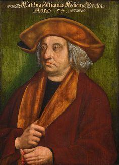 Portrait of Mathias Vlianus Medicinae Doctor. French School, Magazine Art, Art Market, 16th Century, Art World, Scene, Portrait, Artist, Medicine