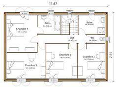Plan Maison Neuve à Construire Maisons France Confort Saphir 140