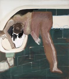 Washing head II (from the series Magic Figures), 1976 (Teresa Pagowska) Figure Painting, Artist Art, Contemporary Art, Moose Art, Art Gallery, Animals, Color, Figurative, Foundation