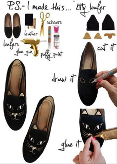 DIY cat loafers, I must make these!!