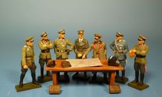 Lineol by Duscha - Wehrmacht - Briefing in the headquarter - 70mm figures