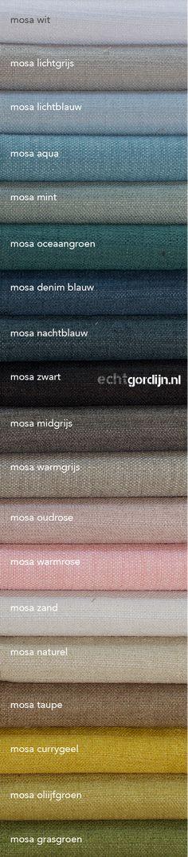 Velours komt weer helemaal terug, en deze stof mosa is super zacht, stoer onregelmatig geweven, fijn geprijsd en verkrijgbaar in 19 kleuren. Vraag gratis stalen op de site