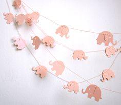 Elephant Garland - Baby Shower Garland - Baby Room Decoration