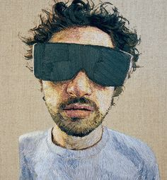 These embroidered portraits by Daniel Kornrumpf are insane.