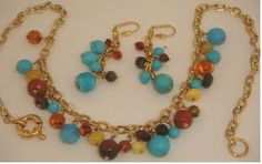 Amber Necklace Earrings Baltic Butterscotch Turquoise