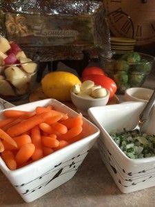 Roast Veggies to cook with Juicy Boneless Leg of Lamb