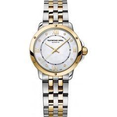 Women's Wrist Watches - Raymond Weil Tango MOP Dial TwoTone SS Quartz Ladies Watch 5391STP00995 * Details can be found by clicking on the image.