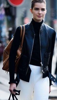 A leather jacket never goes out of style.
