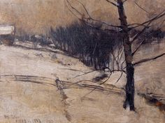 John Henry Twachtman - Snow Scene