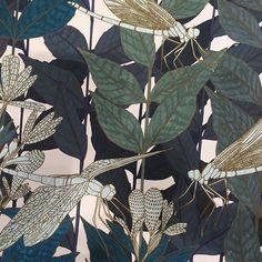 Magnifiques motifs des papiers-peints @ressource_peintures qui connaissent un énorme succès #papierpeint #motif #green