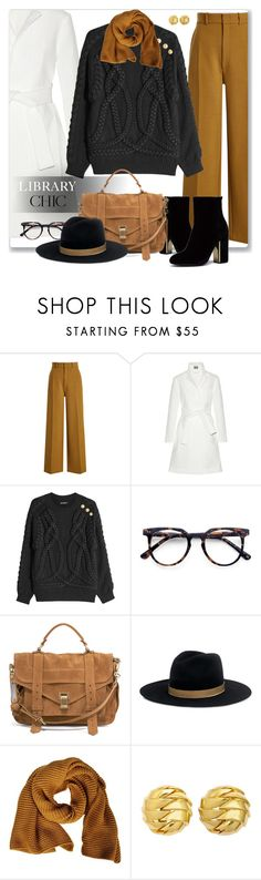 """#finals"" by liligwada ❤ liked on Polyvore featuring Joseph, Maiyet, Balmain, Ace, Proenza Schouler, Janessa Leone, FABIANA FILIPPI, Tiffany & Co., chic and librarychic"