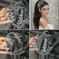 Image may contain: 1 person, closeup – Handwerk und Basteln Bridal Hair Vine, Wedding Headband, Hair Jewelry, Wedding Jewelry, Bride Tiara, Elegant Wedding Hair, Tiara Hairstyles, Wedding Hair Accessories, Bridal Headpieces