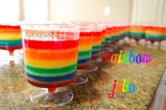 Mess For Less: Food Fun Friday: Hello Rainbow Jell-O