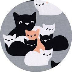 Økologisk jerseystof fra Paapii med kattekillinger